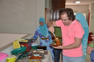 Sampling Kelantanese food