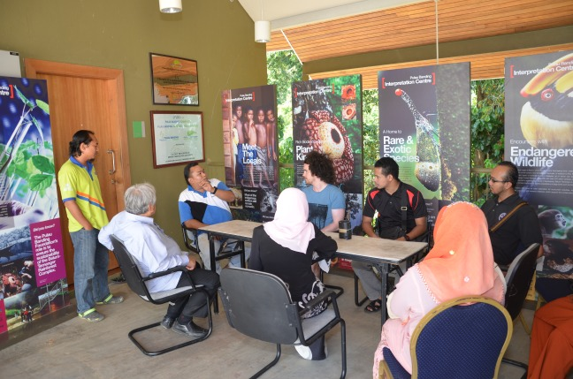 Meeting with researchers at the Pulau Banding Rainforest Research Centre