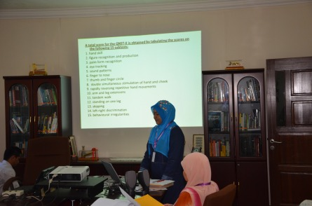 The QNST being explained by Adibah