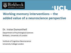 Working Memory Interventions