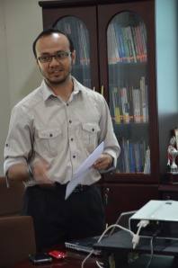 Fakhru and his PhD Proposal