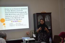 Saima explaining about arsenic