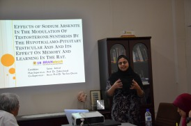 Saima explaining about arsenic