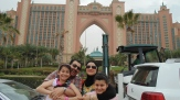 With his family in Dubai