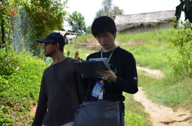Kazuki concentrating on the Community Sustainability Assessment