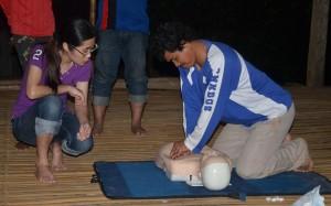 Chuweh's Mazlan doing CPR training